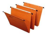 Fast Standard - 25 Dossiers suspendus - pour tiroir - 15 mm - orange