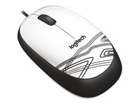 Mouse LOG M105 Blanco USB 1.5mts Optico 3 Botnes Win/Mac/Lin