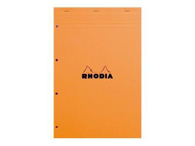 RHODIA Basics A4+ - Bloc notes - 210 x 318 mm - 160 pages - Grands carreaux - différents coloris