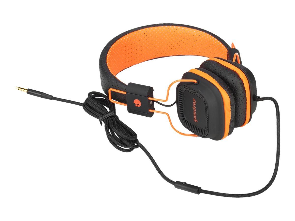 NGS Gumdrop - Casque avec micro - sur- oreille - jack 3.5mm - différents coloris