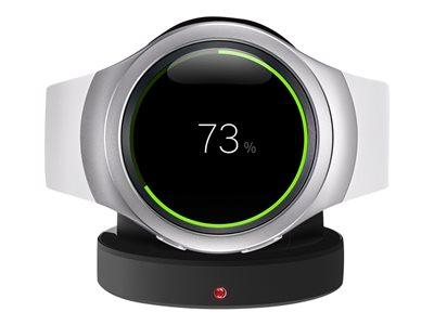 Samsung Gear S2 - 42 mm - stříbrná - technologie Smart Watch s řemínek - elastomer - bílá - 1.2
