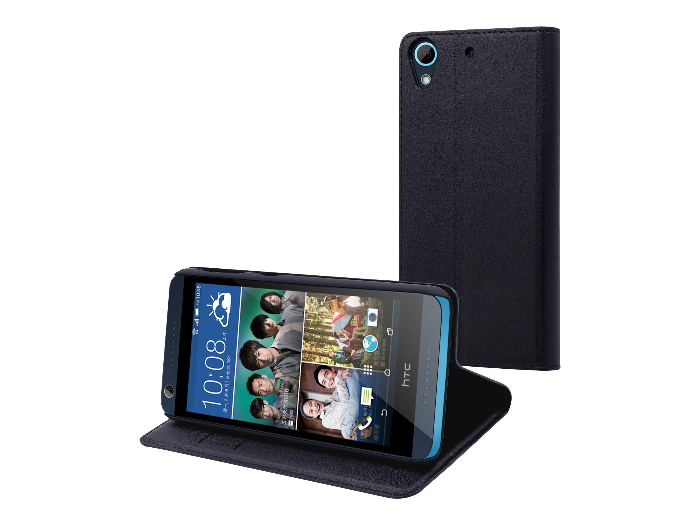 Muvit Wallet - Protection à rabat pour HTC Desire 626 - noir