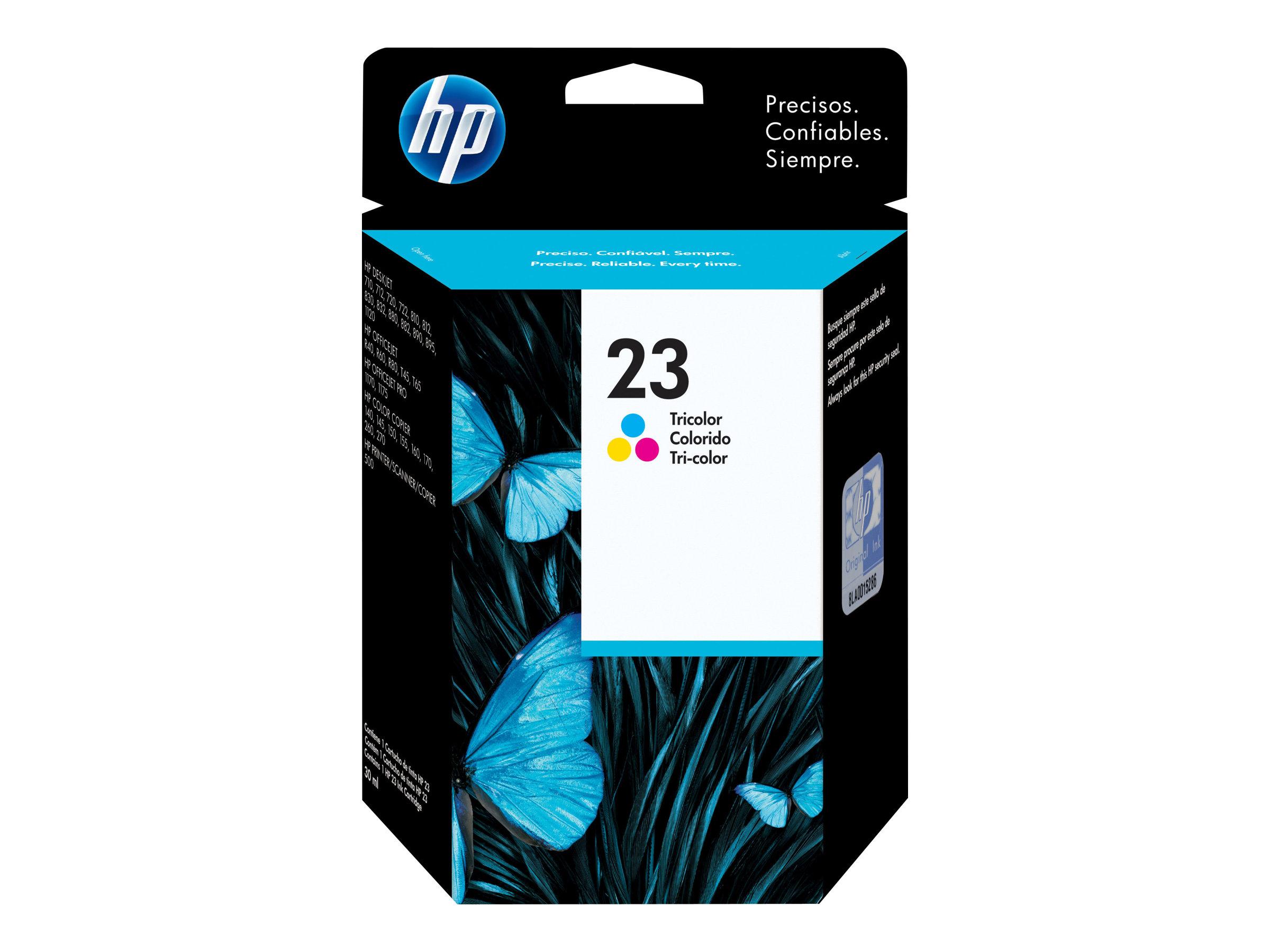 HP 23 - tricolore à base de colorant - originale - cartouche d'encre