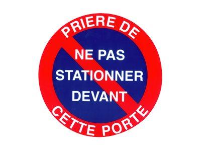 Pickup - Plaque de signalisation - 180 mm (diamêtre) - parking interdit