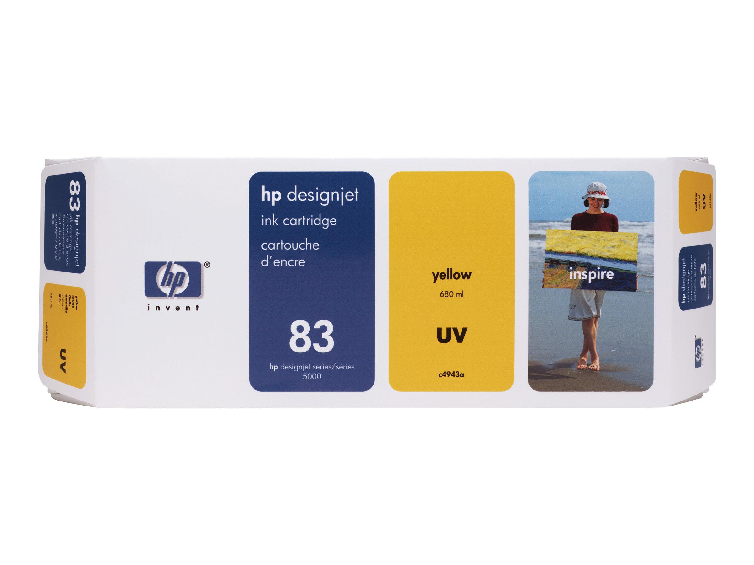 HP 83 - jaune - originale - cartouche d'encre