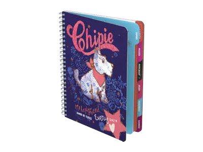 Chipie DREAMS - Cahier - 2016 - 1 jour par page - A5 + - 17 x 22 cm - 80 feuilles / 160 pages - Seyès - disponible dans différentes couleurs