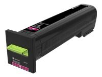 Lexmark - High Yield - magenta - original - toner cartridge LCCP - for Lexmark CS820de, CS820dte, CS820dtfe