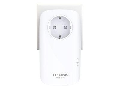 TP-LINK Powerline AV2000 - Starter Kit - bridge - GigE, HomePlug AV (HPAV), HomePlug AV (HPAV) 2.0, IEEE 1901 - zapojitelný do zdi (balení 2)