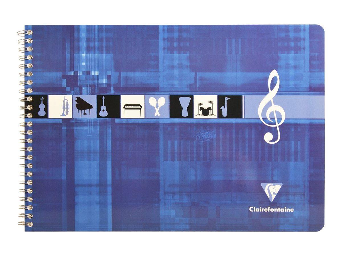 clairefontaine metric italian style a4 cahier de musique 24 x 32 50 pages cahiers de. Black Bedroom Furniture Sets. Home Design Ideas