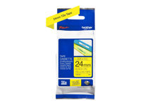 Brother TZe-651 - Standard adhesive - black on yellow - Roll (0.94 in x 26.2 ft) 1 roll(s) laminated tape - for Brother PT-D600; P-Touch PT-1880, D450, D800, E550, E800, P900, P950; P-Touch EDGE PT-P750