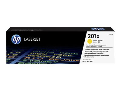 HP 201X - jaune - original - LaserJet - cartouche de toner ( CF402X )