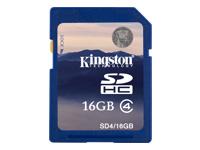 Kingston Flashhukommelseskort 16 GB Class 4 SDHC