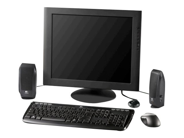 logitech s 120 haut parleurs pour pc 2 3 watt totale noir maxiburo. Black Bedroom Furniture Sets. Home Design Ideas