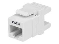 StarTech.com Jack de type Keystone Cat6 à 180°- Jack mural blanc RJ45 Ethernet Cat6- Type110