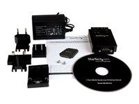 StarTechcom Serveur de périphériques série à 1 port RS232 vers IP Ethernet avec montage sur rail DIN Serveur de périphérique 10Mb LAN RS 232 AC 100230 V