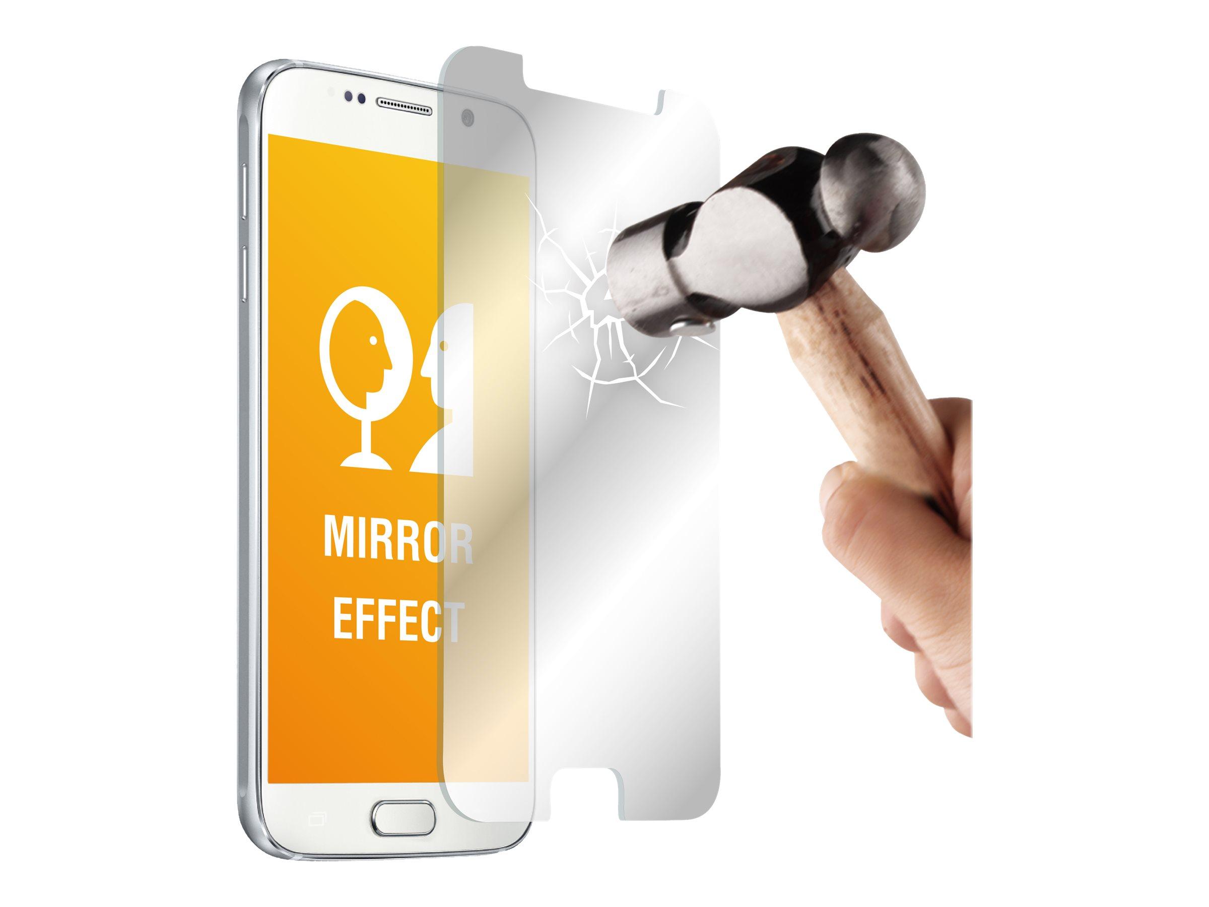 Muvit - 1 film de protection d'écran - verre trempé - miroir - pour Samsung Galaxy S6