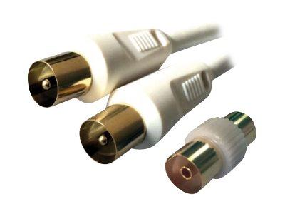 MCL Samar - Kit câble d'antenne TV - coaxial (M) - disponible en différentes tailles