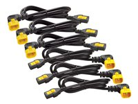 APC Power Cord Kit (6 ea) Locking  C13 TO C14 (90 Degree) 0.6m