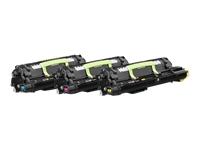 Lexmark - 3-pack - yellow, cyan, magenta - original - toner cartridge LCCP - for Lexmark CS820, CS827, CX820, CX825, CX827, CX860