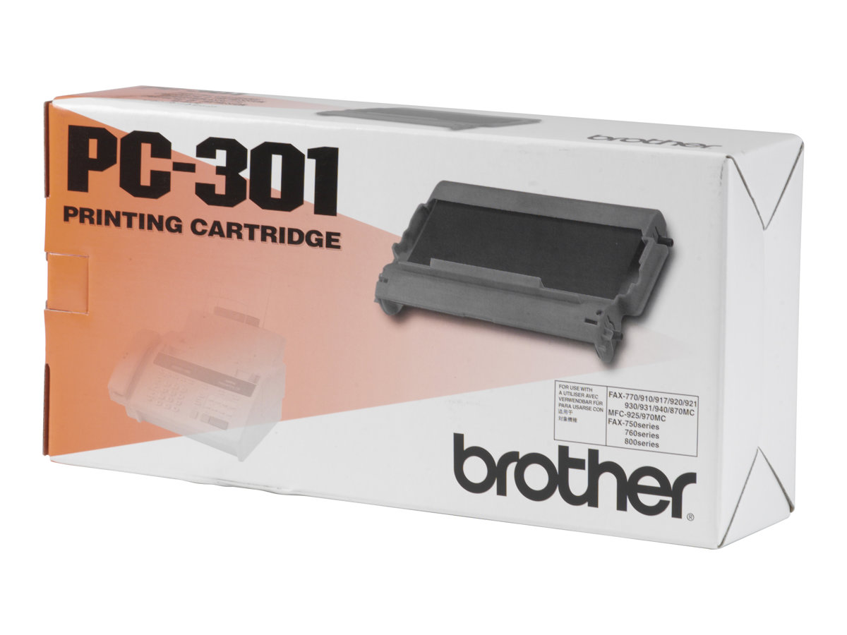 Brother PC301 - noir - originale - cartouche d'impression
