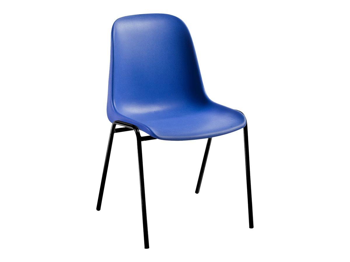officepro charlotte chaise coque gris fonc chaises visiteur r union. Black Bedroom Furniture Sets. Home Design Ideas