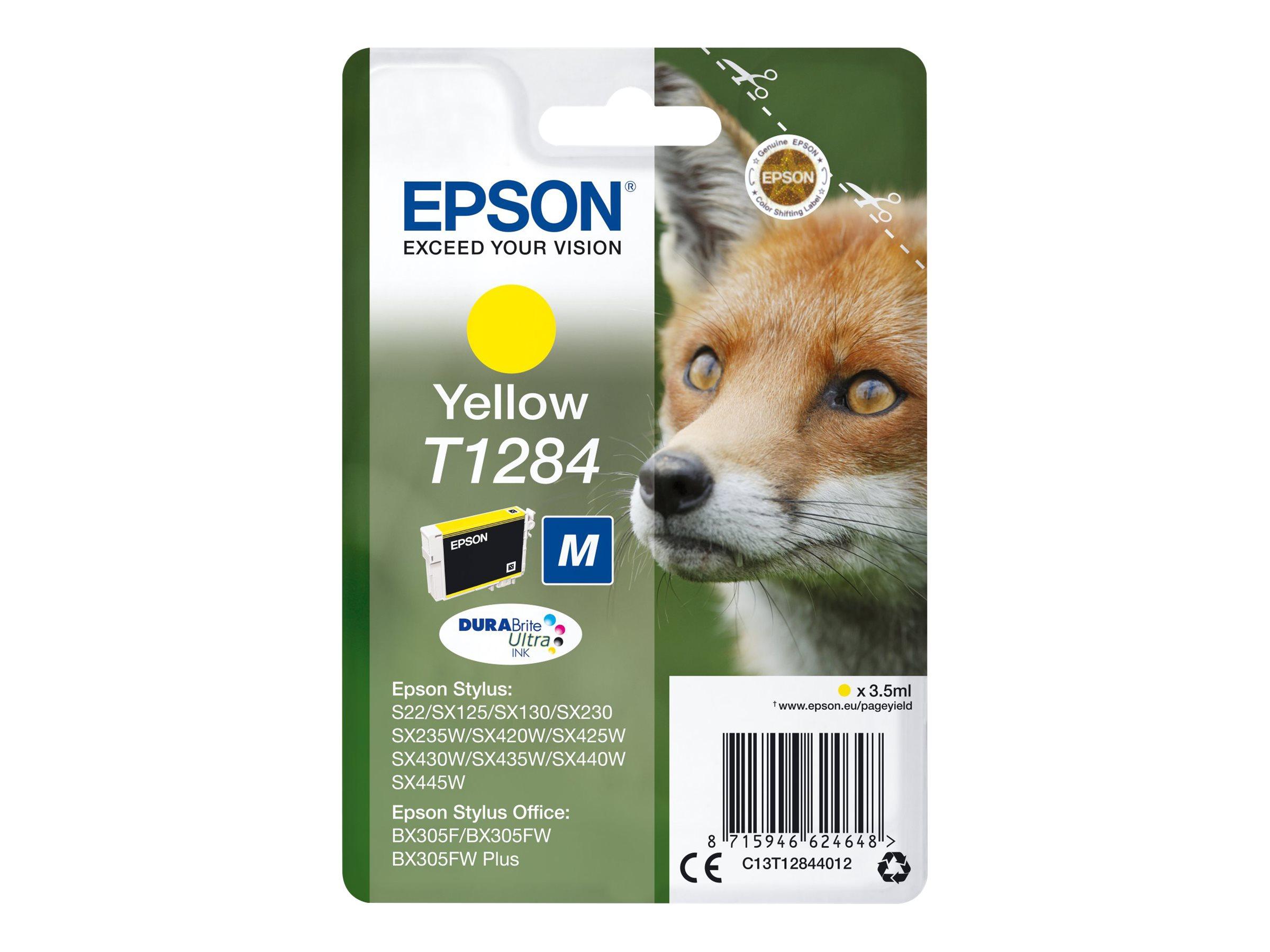 Epson T1284 - renard - taille M - jaune - originale - cartouche d'encre