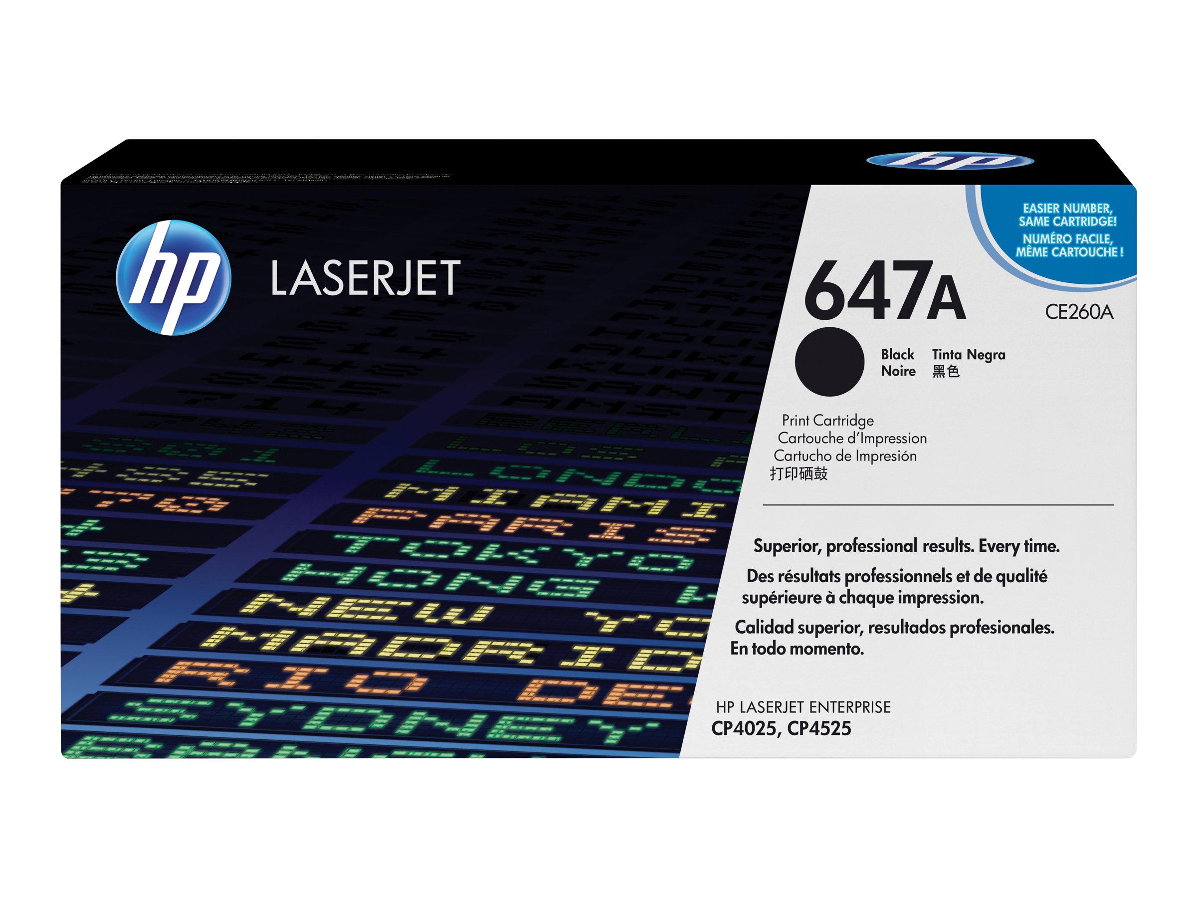 HP 647A - noir - originale - LaserJet - cartouche de toner (CE260A)