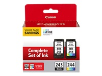 Canon PG-243 / CL-244 Value Pack - 2-pack - black, color (cyan, magenta, yellow) - original - ink cartridge - for PIXMA iP2820, MG2525, MG2920, MG2924, MG3020, MX492, TR4520, TS202, TS302, TS3120, TS3320
