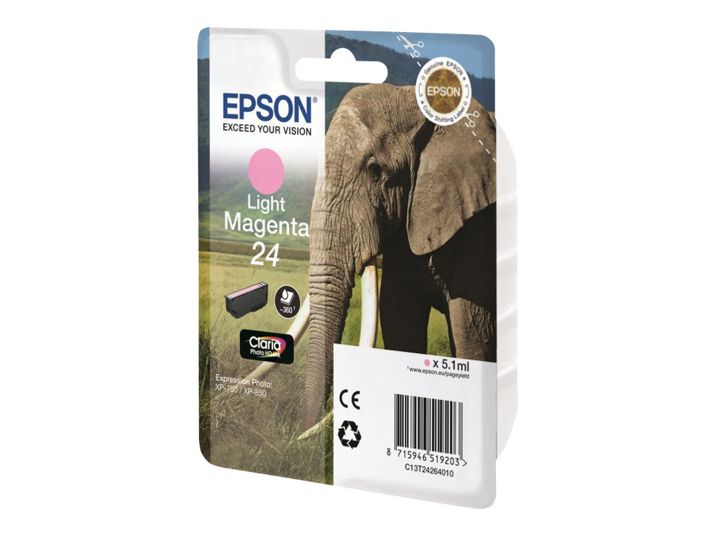 Epson 24 - magenta clair - originale - cartouche d'encre