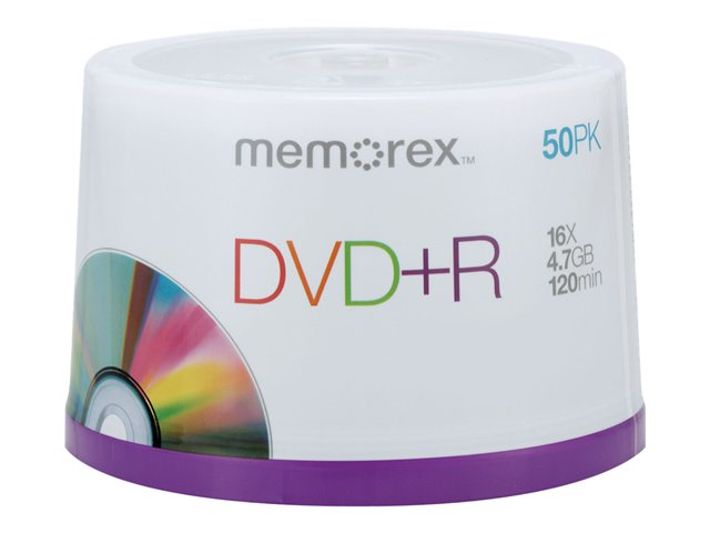 Memorex 50Pk Memorex Dvd+R 4.7Gb 16X Spindle