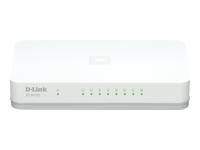 D-Link GO-SW-8GE Switch ikke administreret 8 x 10/100/1000 desktop