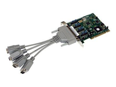 startech.com 4 port pci rs232 serial adapter card high speed 16950 cab