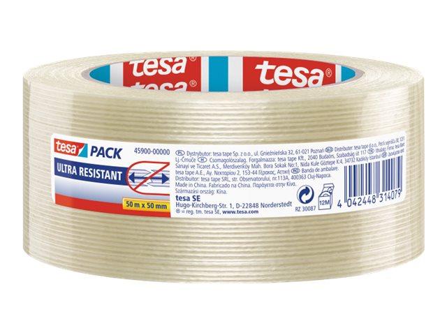 Tesapack Ultra Resistant - Adhésif à filaments - 50 mm x 50 m