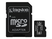 Kingston Canvas Select Plus - Tarjeta de memoria flash (adaptador microSDHC a SD Incluido) - 32 GB