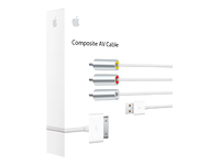 Apple Composite AV Cable - câble vidéo / audio / alimentation - vidéo / audio composite