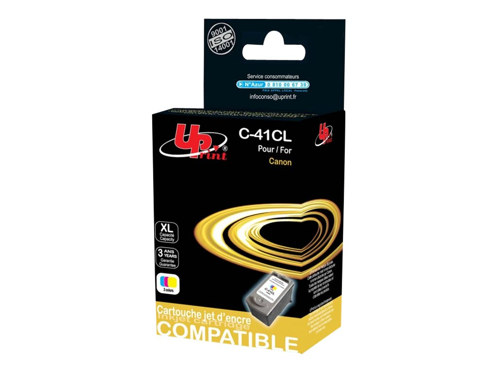 UPrint C-41 - taille XL - couleur (cyan, magenta, jaune) - remanufacturé - cartouche d'encre (équivalent à : Canon CL-41)