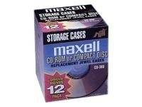 Maxell 12Pk Cd Jewel Case Jc Cd/Dvd Stor