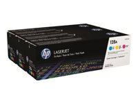 HP 128A CYM Tri-Pack LaserJet Toner Cartridge