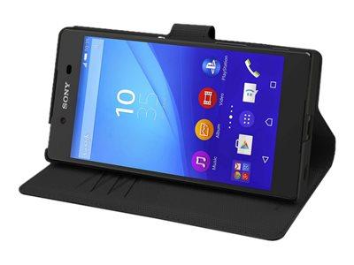 Muvit MFX Wallet Folio - Protection à rabat pour Sony XPERIA Z5 - noir