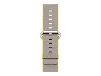 Apple 42mm Woven Nylon Band Urrem 145-215 mm gul, lysegrå