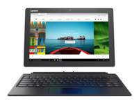 "Lenovo Miix 510-12IKB 80XE - Tablet - with detachable keyboard - Core i5 7200U / 2.5 GHz - Win 10 Home 64-bit - 8 GB RAM - 128 GB SSD - 12.2"" IPS touchscreen 1920 x 1200 - HD Graphics 620 - Wi-Fi, Bluetooth - silver"