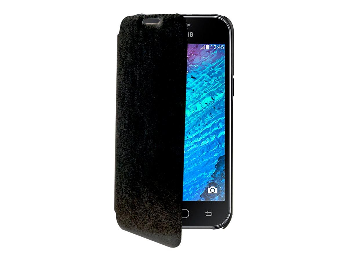 Muvit Luxe Mip Essential Folio - Protection à rabat pour Samsung Galaxy J1 - noir
