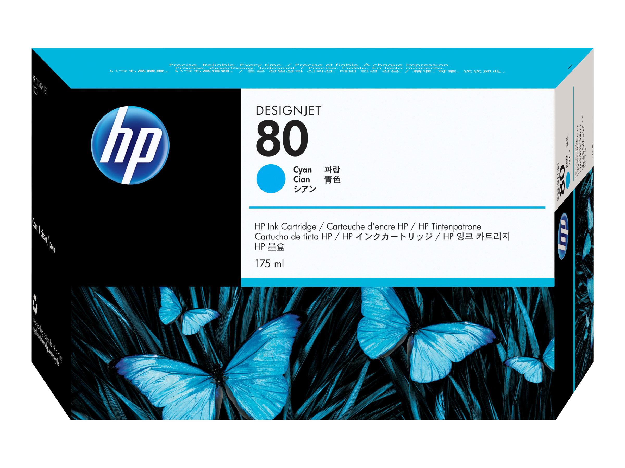 HP 80 - 175 ml - cyan - originale - cartouche d'encre