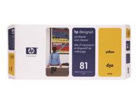 Cabezal de impresi�n Amarillo + Limpiador (n�81)