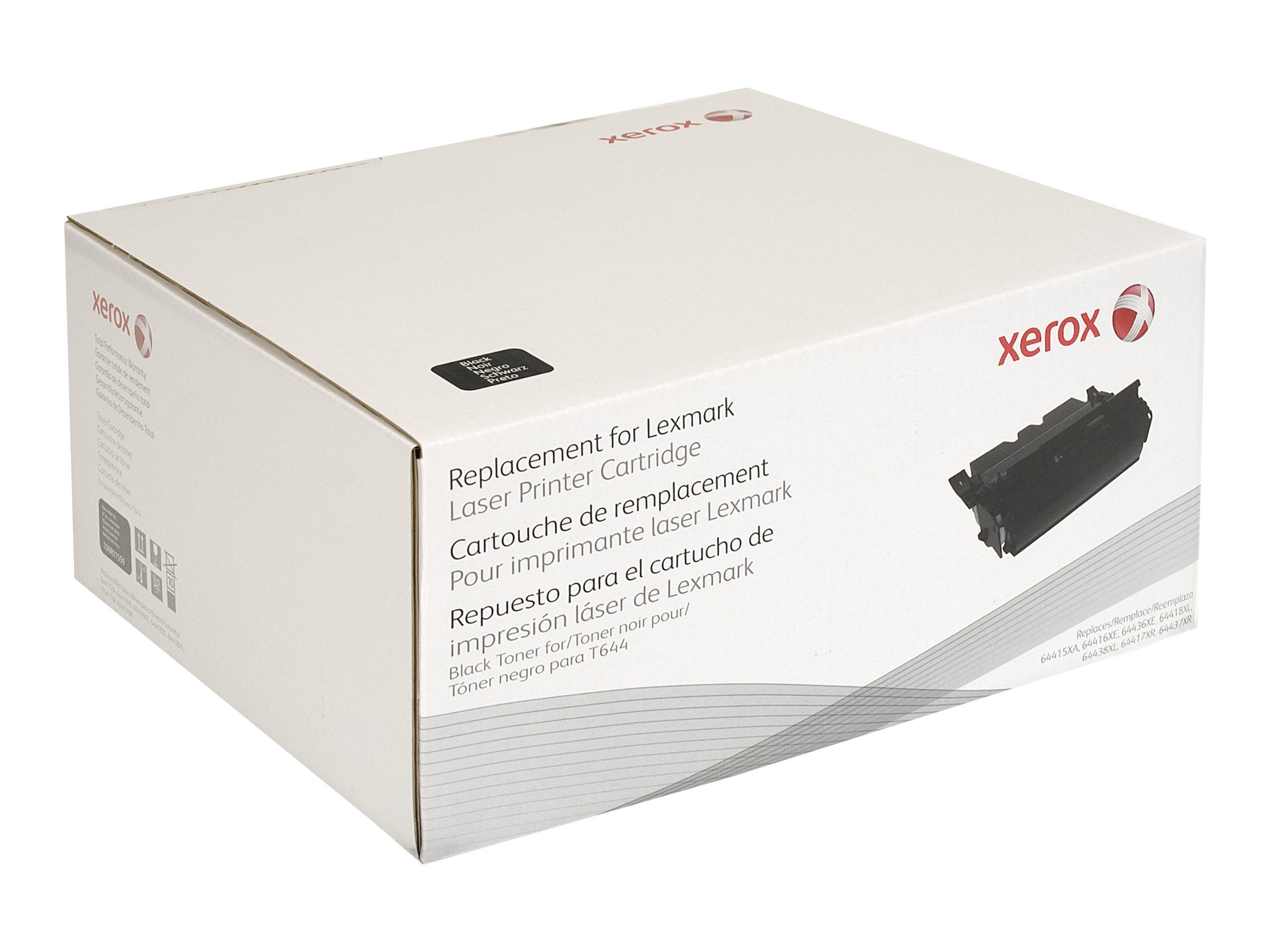 Xerox - noir - cartouche de toner (équivalent à : Lexmark 64416XE, Lexmark 64436XE)