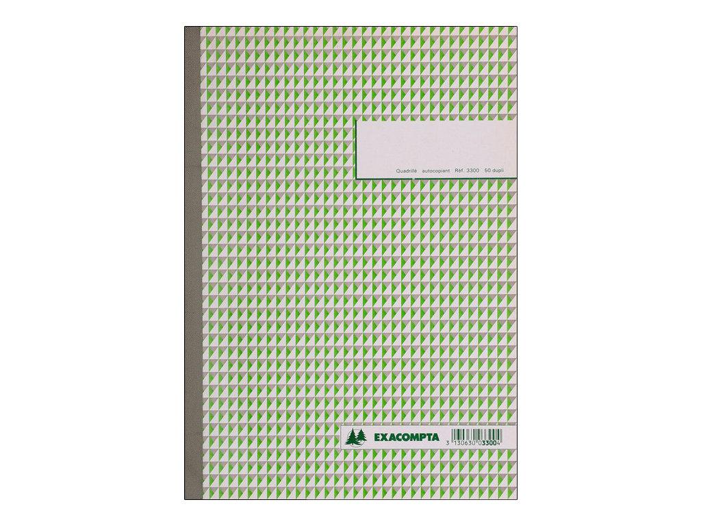 Exacompta - 5 Carnet de reçus - 50 pages - A4 - en double