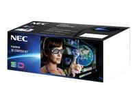 NEC 3D Starter Kit - lunettes 3D