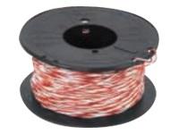 Gelcom câble de téléphone en vrac - 100 m - blanc, rouge