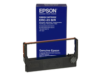 Epson ERC 23BR 1 sort, rød print-bånd for M 280; TM 267, 270