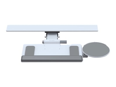 "Humanscale - Mounting kit (standard keyboard platform, track 16"", 19"" slim palm support, 6G Standard White Mechanism, 9"" clip mouse platform) for keyboard / mouse - powder-coated steel, phenolic resin - white - under-the-desk"